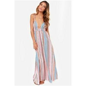 Lulus boho flowy summer maxi dress